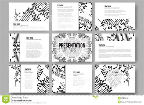 Set Of 9 Templates For set of 9 vector templates for presentation slides stock