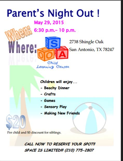 Parent Night Flyer Pictures To Pin On Pinterest Pinsdaddy Parents Out Flyer Template Free