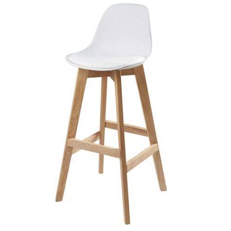 chaise de bar blanche et ch 234 ne maisons du monde