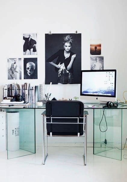 small black and white home office inspirations ideas para decorar tu oficina cocktail de mariposas