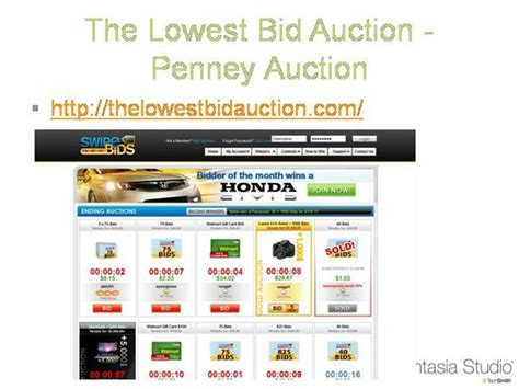 lowest bid the lowest bid auction auction authorstream