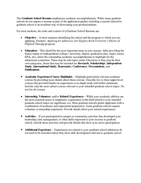 Resume For Graduate School Template by Graduate School Resume Template Health Symptoms And Cure