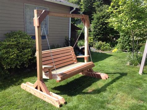 handmade swing handmade cedar garden swings outside comox valley comox