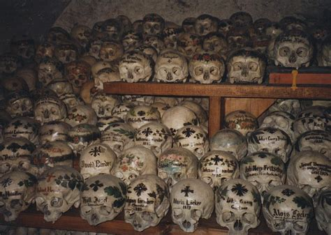what is a charnel house hallstatt charnel house in austria has hundreds of hand painted skulls