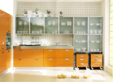 Kitchens With Glass Cabinet Doors Beautiful Glass Cabinets For Your Kitchen
