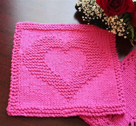 heart pattern dishcloth heart washcloth diy handyperson or not pinterest