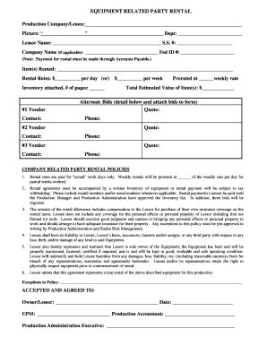 party rental agreement fill  printable fillable