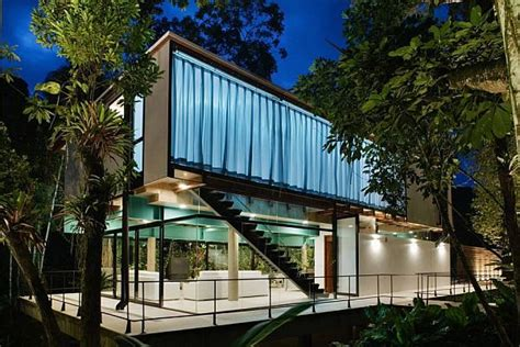 brazilian homes modern summer house in iporanga brazil