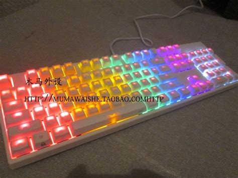 rainbow light up keyboard ikbc f104 keyboarded white mechanical keyboard white light