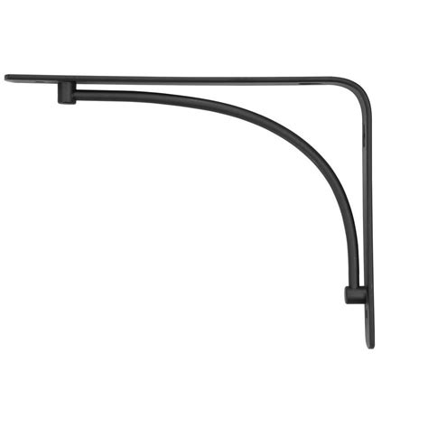decorative shelf brackets home depot rubbermaid 6 in l x 8 in h black arch steel decorative