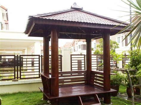 desain gazebo minimalis gazebo kayu kelapa glugu murah desain tipe rumah
