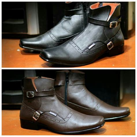 Kickers Zipper Boot Brown sepatu kickers pantofel cowok boot murah kulit asli zipper