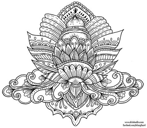 Lotus Colouring Page By Welshpixie On Deviantart Coloring Pages Drawings