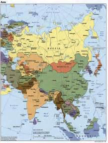 Asia Political Map by Asia Political Map