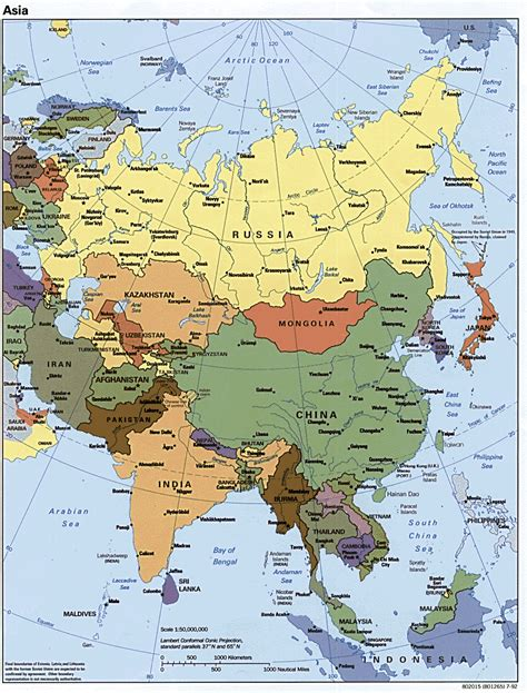 maps of asia asia political map 1992 size