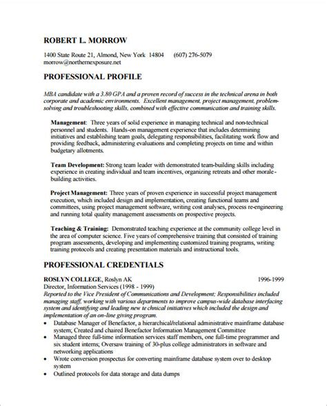 resume format for mba experienced awesome sample resumes template