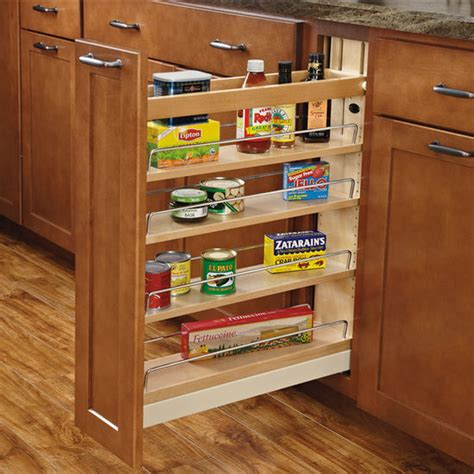Kitchen Cabinet Pull Out Storage Rev A Shelf Wood Pull Out Organizers With Soft Slides For Kitchen Base Cabinet