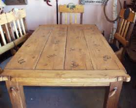 Western Kitchen Table Schahrer Western Furniture Gallery Jc020 Western Rustic Dining Table