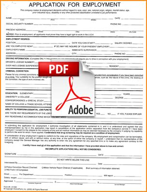 job application template pdf template design