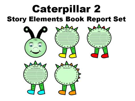 elements of a book report caterpillar 2 story elements book report set other