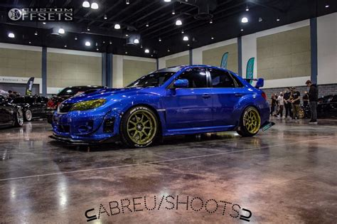 2011 subaru wrx modified 4717 custom offsets wheel shine kit for painted wheels