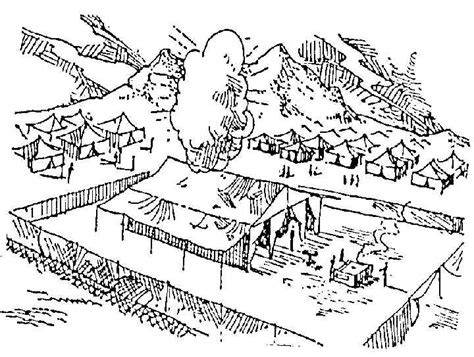 moses building a tabernacle free coloring pages