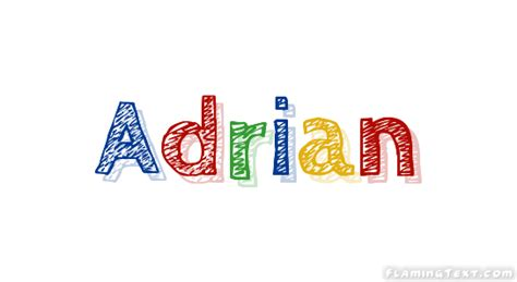 doodle name adrian adrian logo free name design tool from flaming text