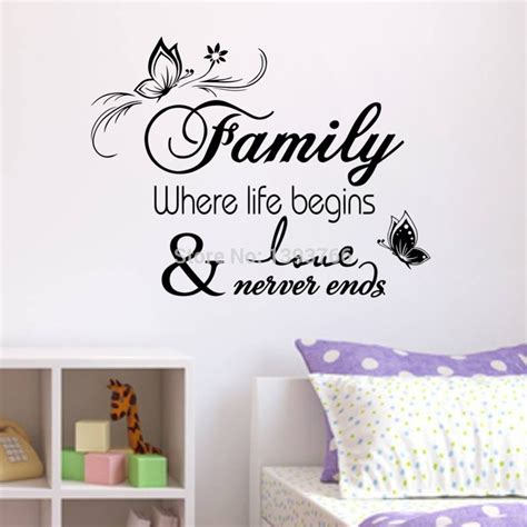 home decor stickers wall family home decor creative quote wall decals decorative