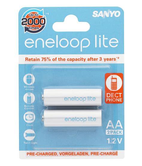 Batre Panasonic Eneloop Lite Rechargeable 1000 Mah Aa sanyo eneloop lite 1000 mah 2 pcs aa rechargeable