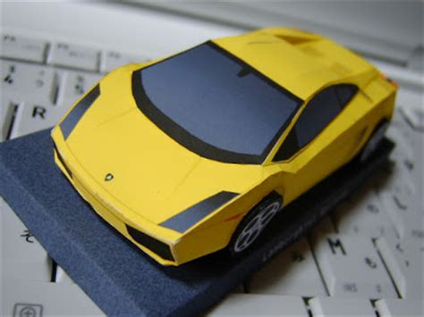 car papercraft lamborghini gallardo free papercrafts