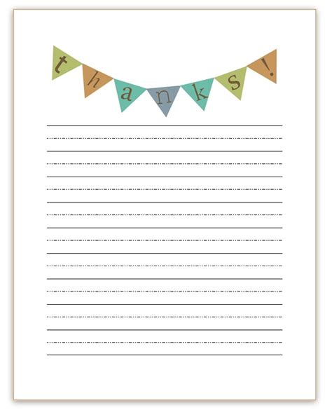 you template thank you note templates kiddo shelter