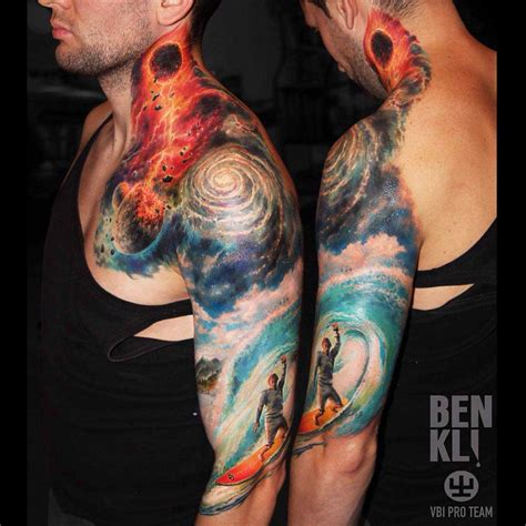 space tattoo sleeve designs space sleeve best ideas gallery