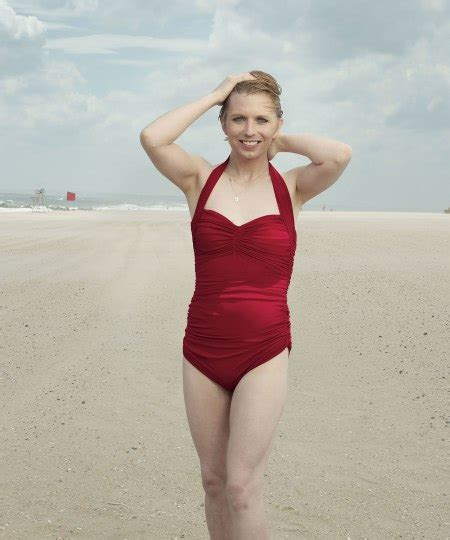 chelsea manning chelsea manning poses in a red bathing suit for vogue