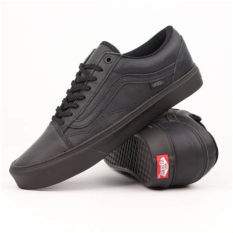 vans shoes skool lite black leather ebay
