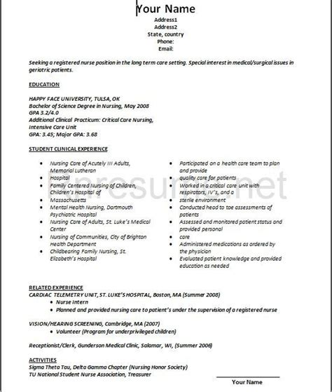 lpn resume sle new graduate best resume collection