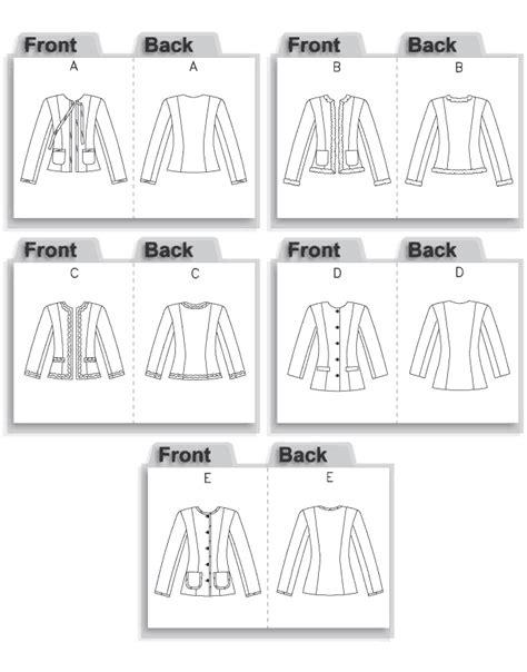 jacket pattern types chanel jacket