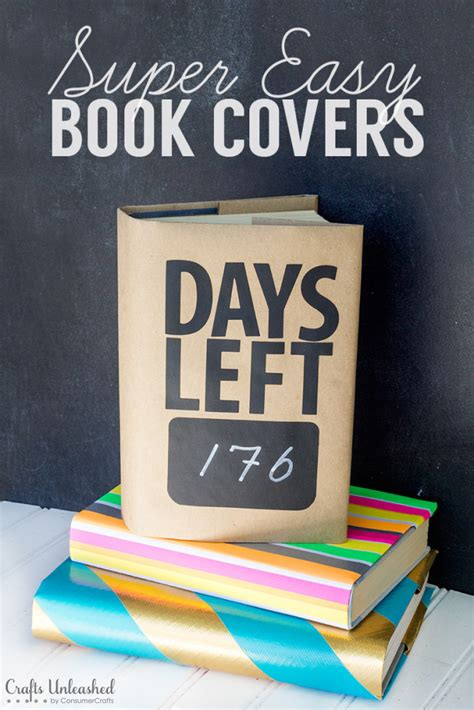 diy book cover ideas easy crafts unleashed