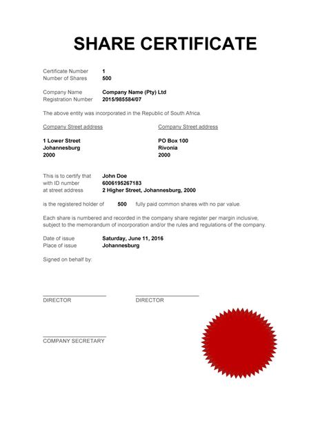 shareholding certificate template 40 free stock certificate templates word pdf