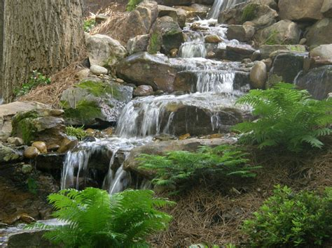 aquascape waterfall disappearing pondless waterfall landscape ideas charlotte north carolina nc