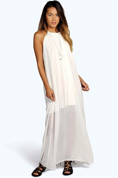 Maxi Hs boohoo womens chiffon high neck maxi dress ebay