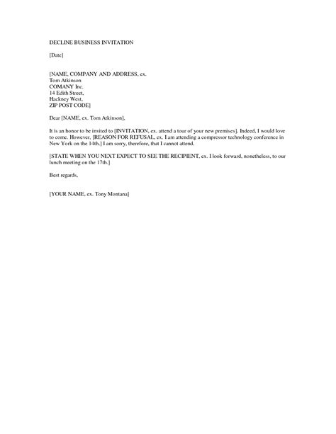 Reservation Rejection Letter Best Photos Of Decline Business Letter Sle Business Decline Letter Sle Decline