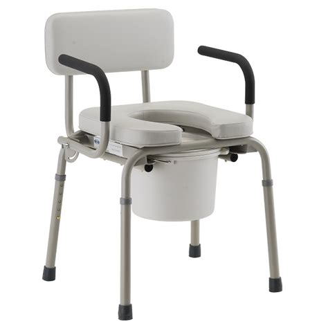 Lifetime Chair Parts Nova Padded Drop Arm Commode Nova Commodes
