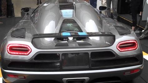 koenigsegg grey grey koenigsegg agera start up and revs