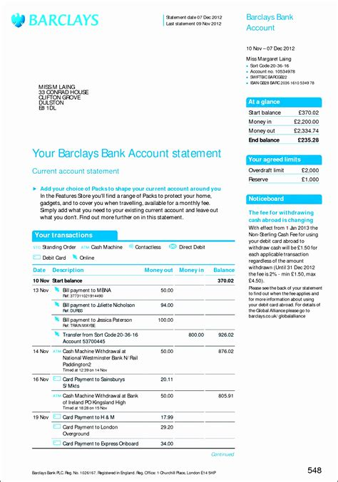 8 free bank statement online sletemplatess