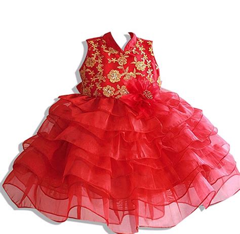 new year clothes color baby new year dress promotion shop for promotional