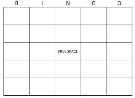 free bingo cards template free bingo card template large printable blank bingo