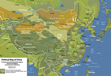 political map of china ezilon maps physical map of china