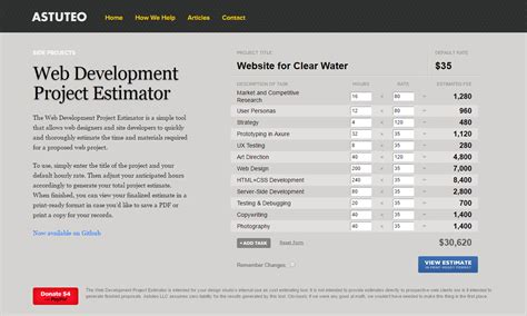 software development cost estimation template how to estimate web design cost an agency s perspective