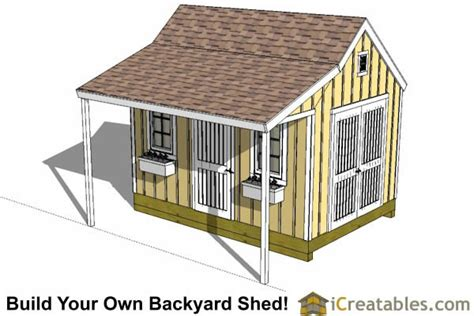colonial shed  porch plans icreatables sheds