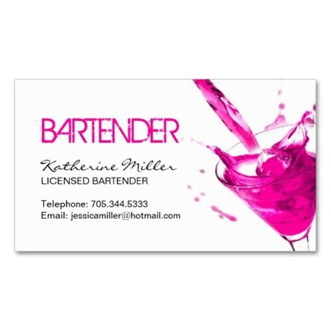 bartender business card template 17 best images about bar tending on sweet
